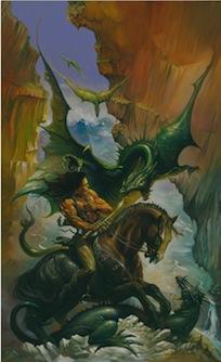 gothic fantasy art, Dragon's Domain