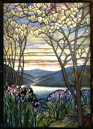 art of fine gifts, magnolia irises window