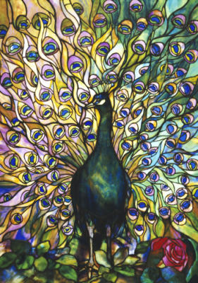 art of fine gifts, peacock window