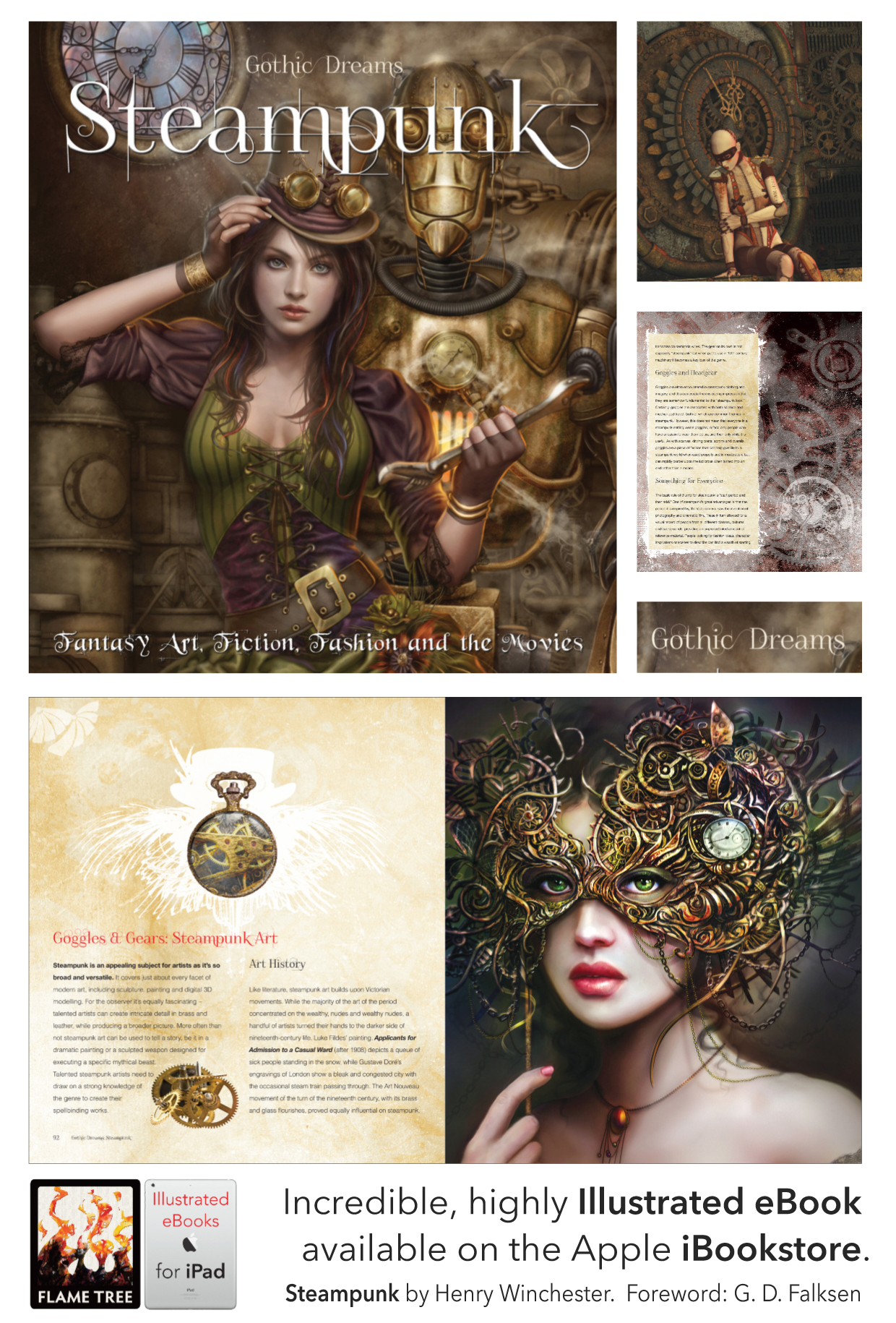 Steampunk, illustrated ebooks, fantasy art, digital art
