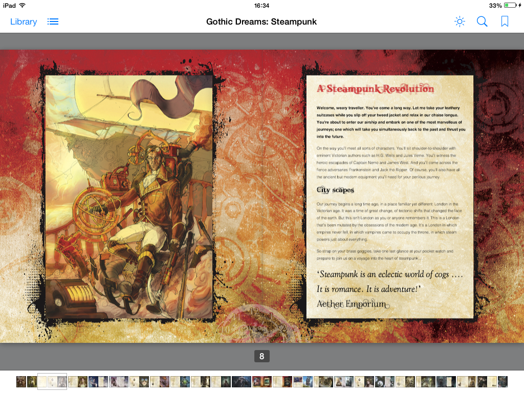illustrated ebooks, Steampunk spread 01