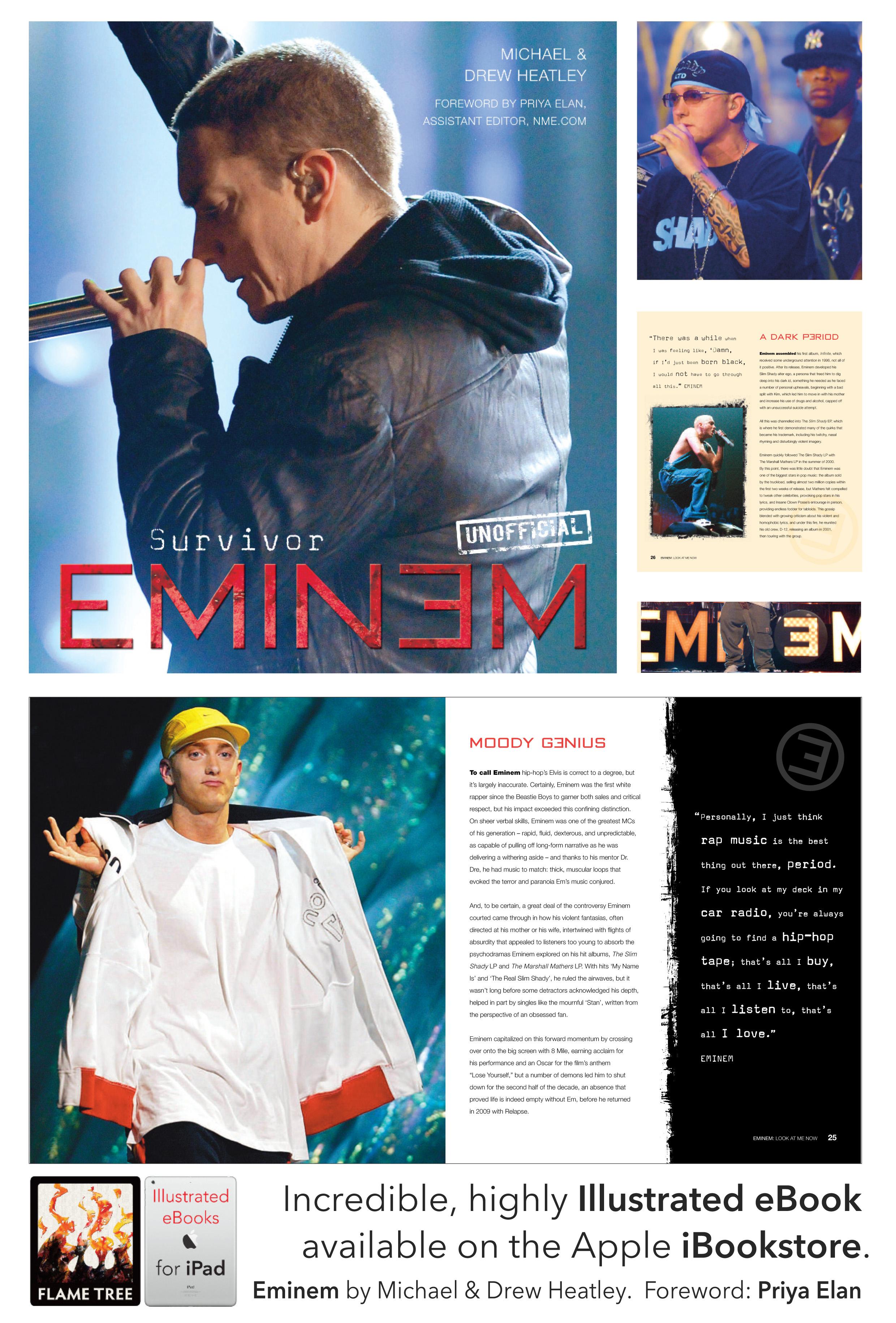 Eminem, illustrated ebook, ready for iPad