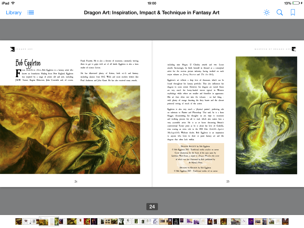 Dragon Art, digital art, inside pages, ipad ready