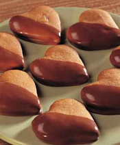 simple recipes, heart shaped cookies