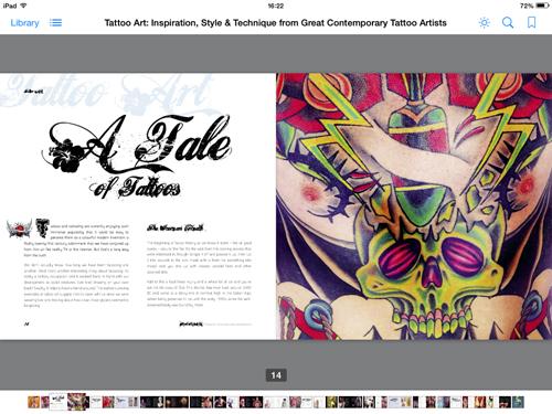 Illustrated ebooks, tattoo art spread 1