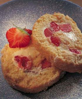 simple recipes, fruity roulade