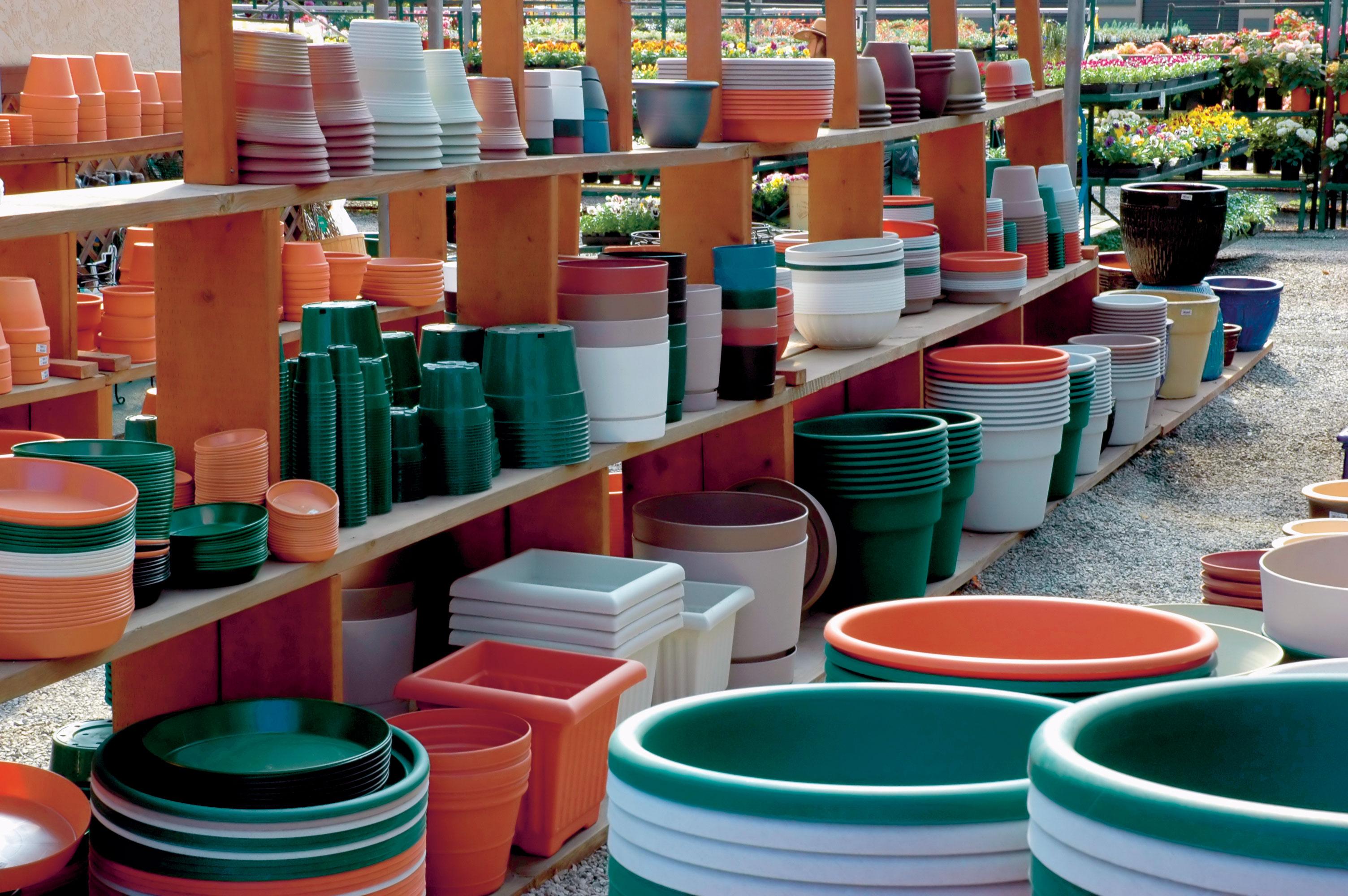 Crops in Pots Plastic