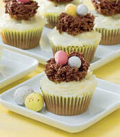 simple recipes, easter nest cakes