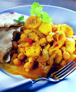 simple recipes, caribbean pumpkin curry