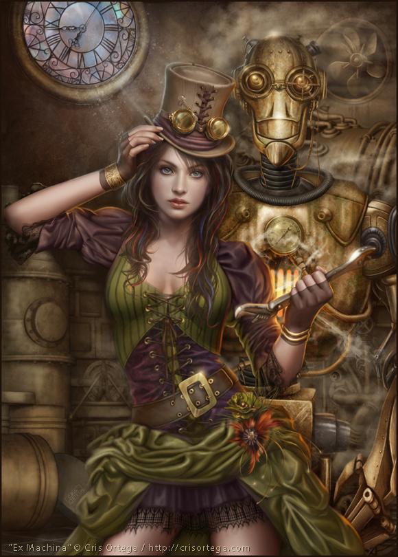 cris ortega, steampunk art