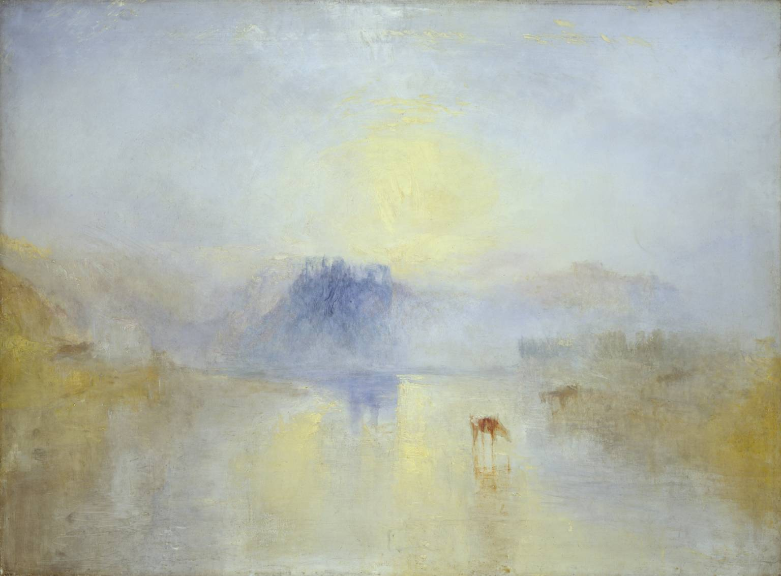 norham castle sunrise turner