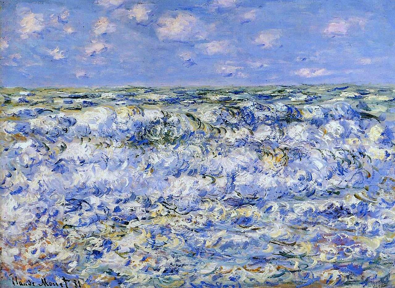 Monet Waves Breaking 1881