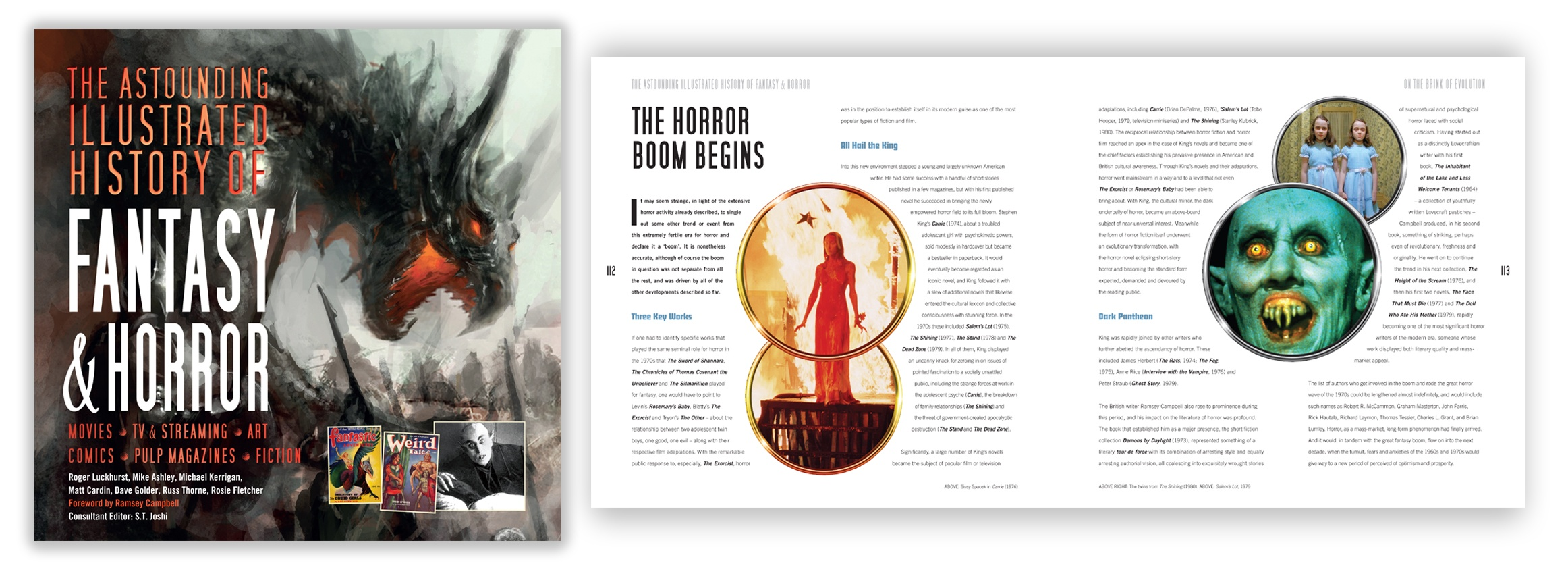 Illustrated history of horror w- Spread