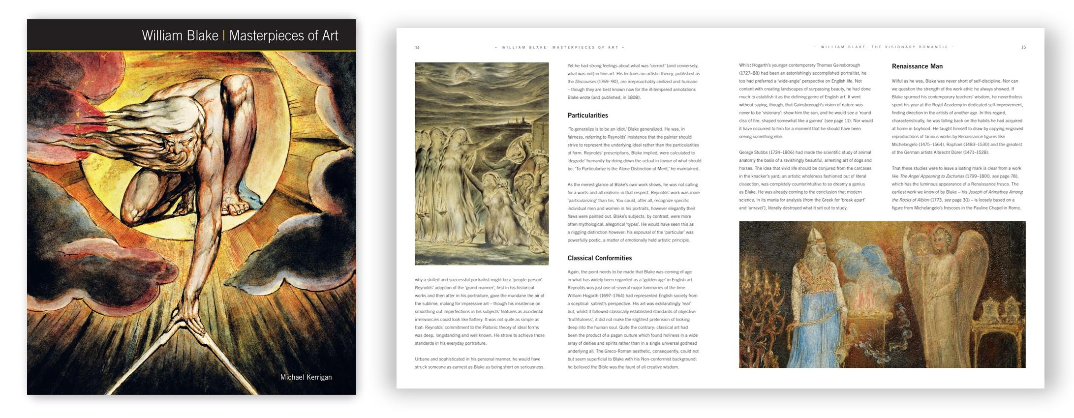 Masterpieces of Art - william blake w- Spread