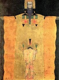 man kneeling