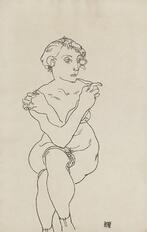 seated female